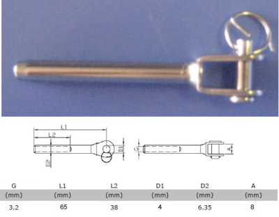 Model : 031-32 Terminal - Fork/Swage for 3.2mm wire