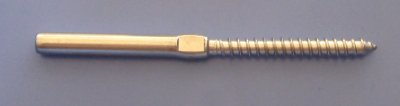 Model : 04039-32-6 Terminal - Wood screw/Swage for 3.2mm wire